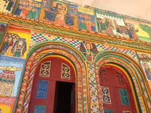 the painting of the Axum church