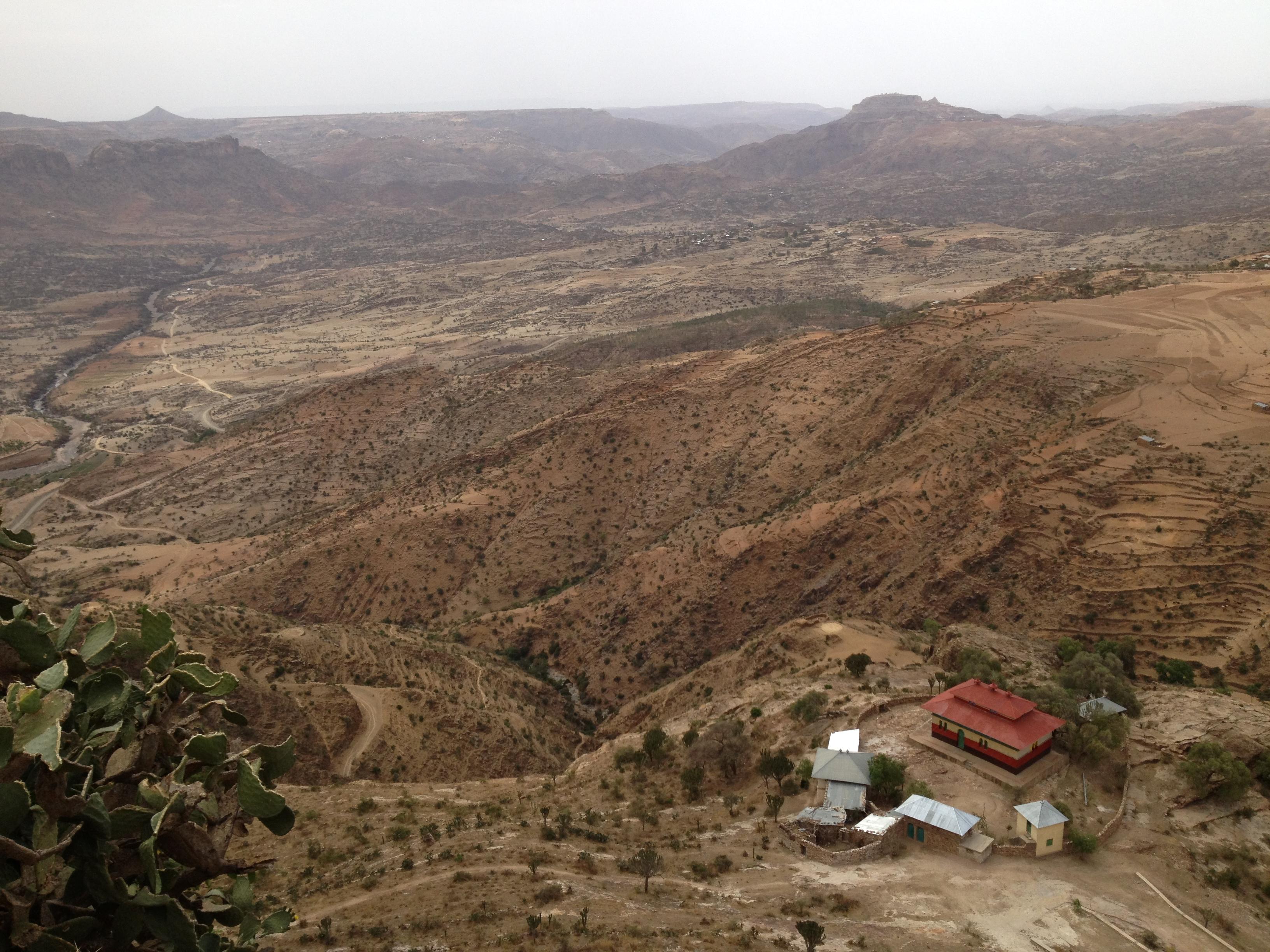 he view from the Monastery church Debre Damo
