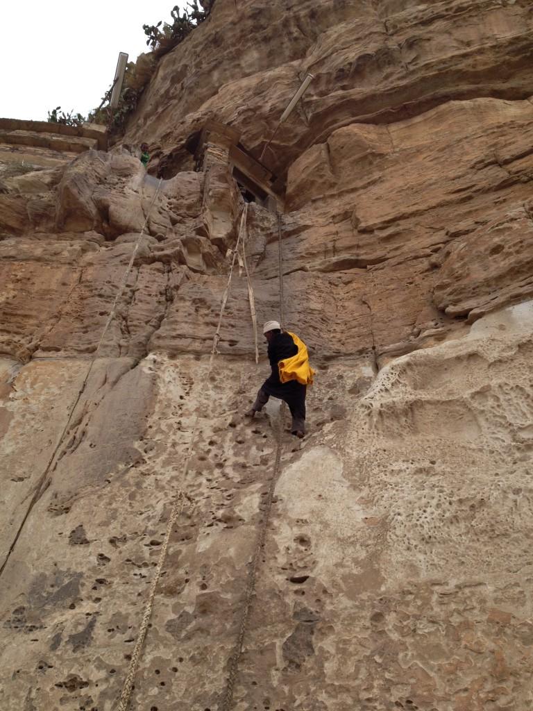 the way clmbing to the monastry church of Dber Damo