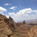 the view of Abune Yemata Monastrey church from Mariyam Kurkur church
