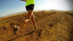 Running traning up and down of Ethiopian Mountain