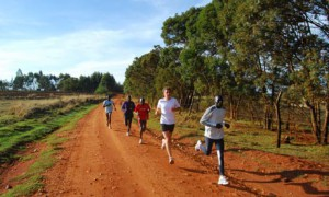 running traning at the high altitud of Ethiopian land