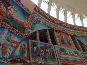 the painting of Axum Tstion Mariyam church
