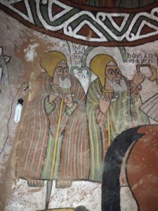 paintings of Abune yemata church by Apostules and Saints