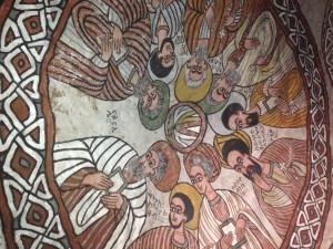 the intrior part of the Abune yemata church