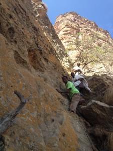 the way to coming down from Abune yemata church