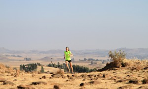Eroupian runners in Ethiopia